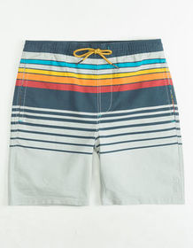 VALOR Fred Stripe Boys Volley Shorts_