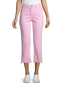 Kensie jeans Demi-Flare Cropped Jeans PINK SHERBER