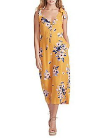 Jessica Simpson Wes Floral Tie Strap Palazzo Jumps