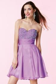 Alyce Paris - Strapless Sequined and Pleated Sweet