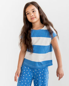 Hanna Andersson Sueded Jersey Stripe Top