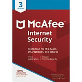 McAfee Internet Security For 3 PC