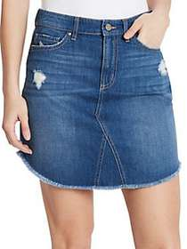 William Rast Joey Denim Skirt HIGHWAY HAZE