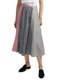 French Connection Carolie Striped Colorblock Pleat