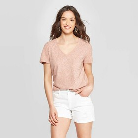 Women's Monterey Pocket V-Neck Short Sleeve T-Shir