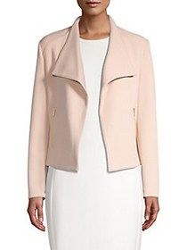 Calvin Klein Textured Open-Front Cardigan BLUSH