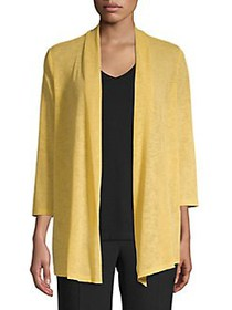 Kasper Textured Open-Front Cardigan BUTTERSCOTCH