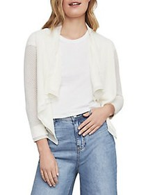 BCBGMAXAZRIA Asymmetrical Cotton Blend Pointelle C