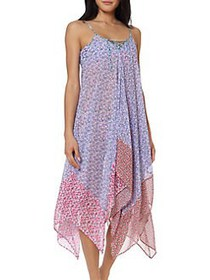 Jessica Simpson Ditsy Floral Handkerchief Coverup