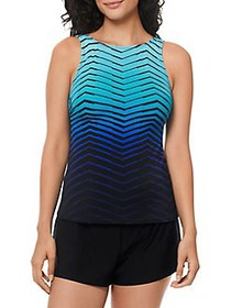 Reebok Essentials Prime Tankini Top BLUE