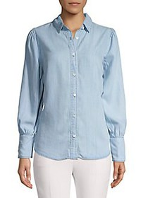 FOR THE REPUBLIC Point Collar Chambray Button-Down