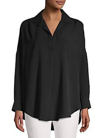 French Connection Rhodes Oversize Blouse BLACK