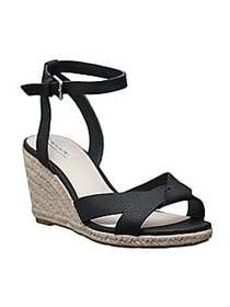 Tahari Joslyn Espadrille Wedge Sandals BLACK