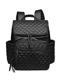 SOL AND SELENE Destination Quilted Backpack BLACK