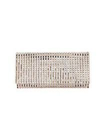Nina Chicago Crystal Striped Convertible Clutch RO