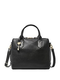 Fossil Fiona Leather Satchel BLACK