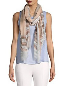 Vince Camuto Linear Lightweight Wrap Scarf NEUTRAL