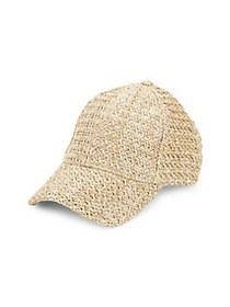 BCBGMAXAZRIA Woven Textured Cap NATURAL