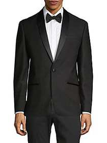 Ben Sherman Tonal-Lapel Dinner Jacket BLACK