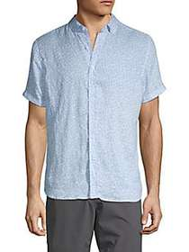 Report Collection Printed Linen Button-Down Shirt