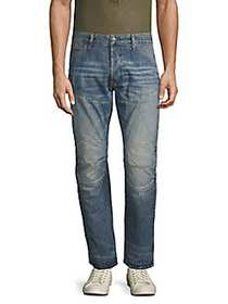 G-Star RAW 3D Tapered-Fit Leather-Trimmed Jeans BL