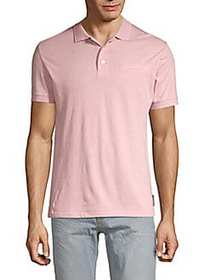 French Connection Dot-Print Cotton Polo PINK