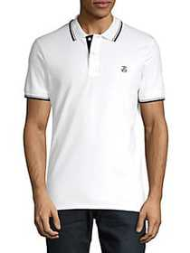 Selected Homme Logo Stretch Polo BRIGHT WHITE