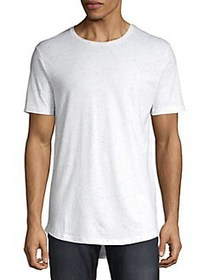 Only and Sons Long Textured Cotton Blend Tee BRIGH
