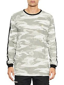 Nana Judy Camo Side Stripe Long Sleeve Shirt CAMO