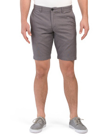 BEN SHERMAN Flat Front Canvas Shorts