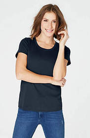 Pima Scoop-Neck Tee