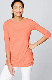 Pure Jill Boat-Neck Layered Tunic