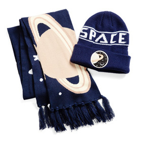 SPACE Beanie and Scarf Set