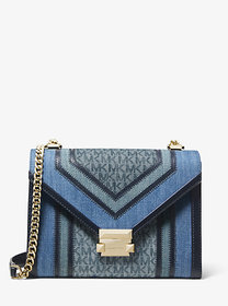 Michael Kors Whitney Large Denim Logo Convertible