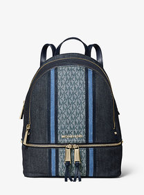 Michael Kors Rhea Medium Denim Logo Backpack