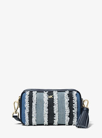 Michael Kors Small Frayed Denim Camera Bag