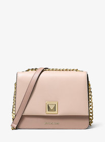 Michael Kors Sylvia Medium Tri-Color Crossgrain Le