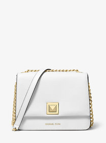 Michael Kors Sylvia Medium Crossgrain Leather Cros