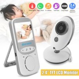Video Baby Monitor 2.4 Inch with Night Vision & Te