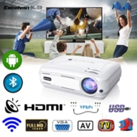 """Excelvan BL-59 200"""" Portable LED HD Projector, And"""