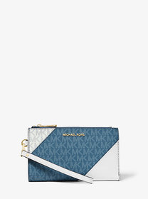 Michael Kors Adele Two-Tone Logo and Leather Smart