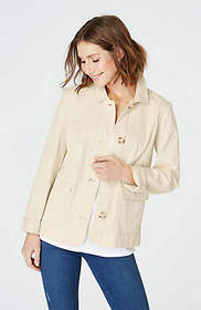 Cotton-Stretch Cropped Jacket