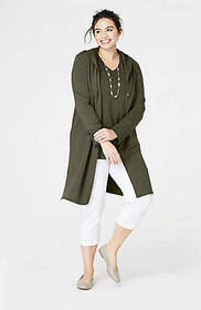 Pure Jill Hooded Long Jacket