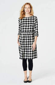Gingham Double-Cloth Dress
