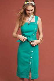 Anthropologie Elizabeth Button-Front Dress