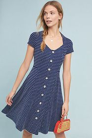 Anthropologie Marilyn Button-Front Dress