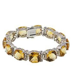 Colleen Lopez Sterling Silver Citrine and White To