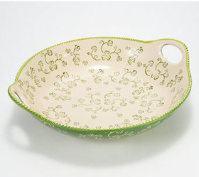 """As Is"" Temp-tations Floral Lace Round Platter - K"