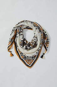 Floral-And-Paisley Square Scarf
