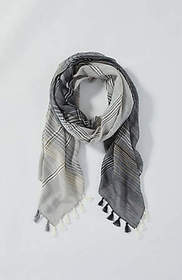 Woven Textured-Stripes Scarf